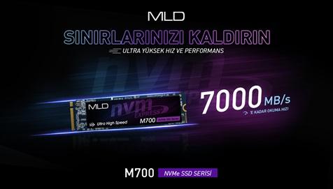 MLD M700 Yeni Nesil NVMe SSD Serisi