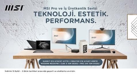 MSI Pro ve İş Üretkenlik Serisi