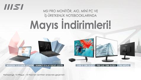 MSI Pro Serisi Ürünlerde Mayıs İndirimleri!