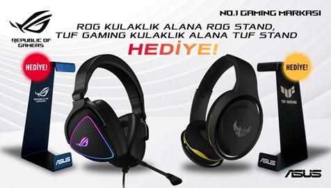 ROG ve TUF Gaming kulaklık modelleri stand hediyeli!