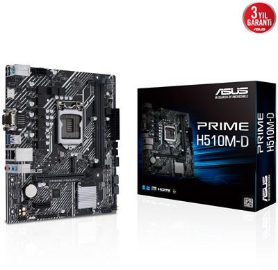 Asus Prime H510M-D 3200mhz(OC) M.2 1200p mATX Anakart