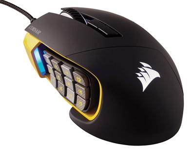 Corsair Scimitar Pro MOBA / MMO Sarı Optik Gaming Mouse