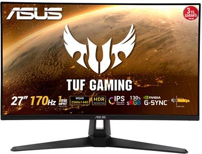 "Asus 27"" TUF Gaming VG27AQ1A 1ms 170hz HDMI,DisplayPort G-Sync Gaming Monitör"