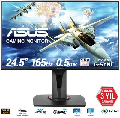 """En ucuz Asus 24,5"""" VG258QR 0.5ms 165Hz HDMI,DPPort,DVI-D FreeSync (G-Sync Uyumlu) Gaming Monitör Fiyatı"""