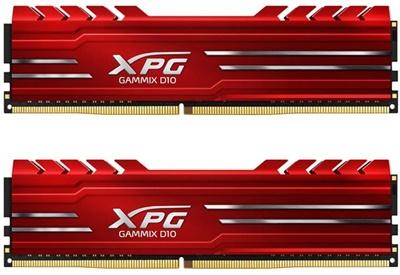 XPG 8GB(2x4) Gammix D10 Kırmızı 2666Mhz CL16 DDR4  Ram (AX4U2666W4G16-DRG)