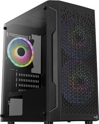 Aerocool Trinity Mini V3 Tempered Glass RGB USB 3.0 mATX Mini Tower Kasa
