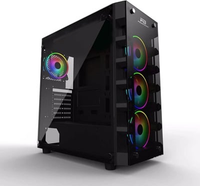 PowerBoost X59 Tempered Glass RGB USB 3.0 ATX Mid Tower Kasa