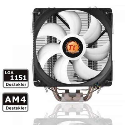 Thermaltake Contac Silent Serisi 120 mm Beyaz Fan Intel-AMD Uyumlu Hava Soğutucu