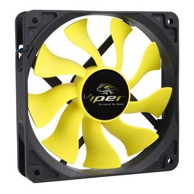 Akasa Viper S-Flow  120 mm Sarı Fan