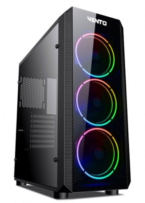 En ucuz Asus Vento VG04F Tempered Glass RGB USB 3.0 ATX Mid Tower Kasa  Fiyatı