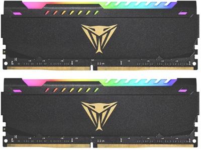 Patriot 32GB(2x16) Viper Steel RGB 3200mhz CL18 DDR4  Ram (PVSR432G320C8K)