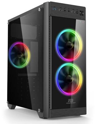 En ucuz PowerBoost VK-C013B 500W RGB USB 3.0 mATX/ATX Mid Tower Kasa  Fiyatı