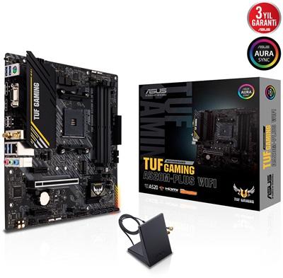 Asus TUF Gaming A520M-PLUS 4800mhz(OC) RGB M.2 Wi-Fi AM4 mATX Anakart