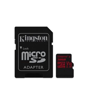 Kingston 32GB MicroSDHC Canvas React 100MB/s UHS-I U3 Class 10 Hafıza Kartı (SDCR/32GB)