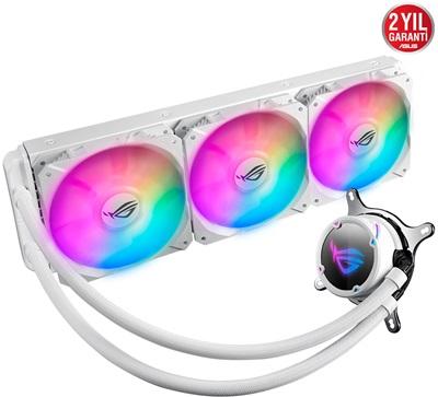 En ucuz Asus Rog Strix LC360 White Edition RGB 360 mm Intel-AMD Uyumlu Sıvı Soğutucu  Fiyatı