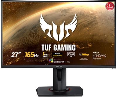 "En ucuz Asus 27"" TUF Gaming VG27WQ 1ms 165hz HDMI,DisplayPort FreeSync Curved 2K Gaming Monitör Fiyatı"