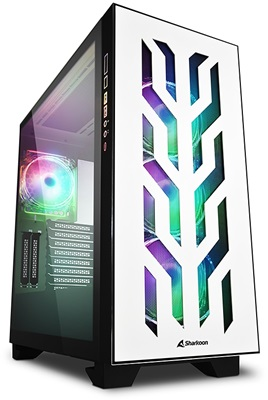 En ucuz Sharkoon Elite Shark CA300T Tempered Glass RGB White Edition USB 3.0 ATX Mid Tower Kasa  Fiyatı