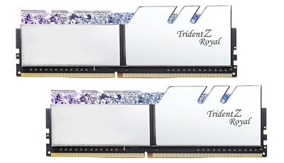 G.Skill 16GB(2x8) Trident Z Royal Silver RGB 3000mhz CL16 DDR4  Ram (F4-3000C16D-16GTRS)