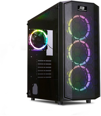 PowerBoost X58 Tempered Glass RGB USB 3.0 ATX Mid Tower Kasa