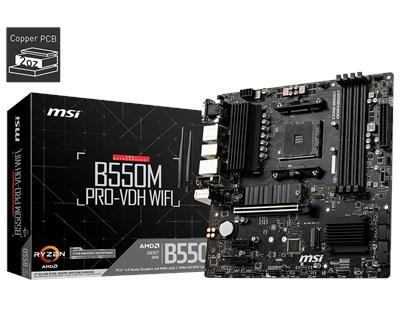 En ucuz MSI B550M PRO-VDH WiFi 4400mhz(OC) M.2 AM4 mATX Anakart Fiyatı