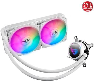 En ucuz Asus Rog Strix LC240 RGB White Edition 240 mm Intel-AMD Uyumlu Sıvı Soğutucu  Fiyatı
