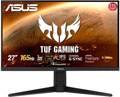 "En ucuz Asus 27"" TUF Gaming VG279QL1A 1ms 165hz HDMI,DisplayPort FreeSync G-Sync Gaming Monitör Fiyatı"
