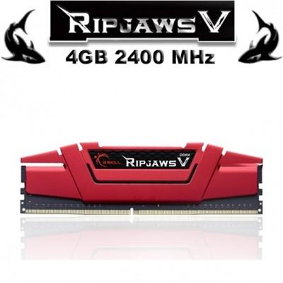 G.Skill 4GB RipjawsV Kırmızı 2400mhz CL15 DDR4  Ram (F4-2400C15S-4GVR)