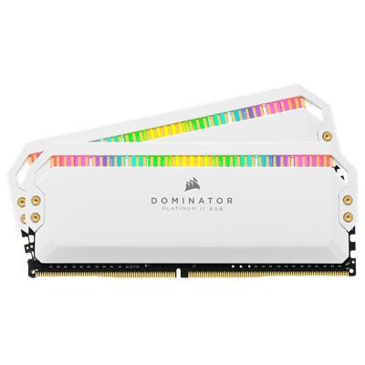En ucuz Corsair 32GB(2x16) Dominator Platinum RGB 3200mhz CL16 DDR4  Ram (CMT32GX4M2C3200C16W) Fiyatı