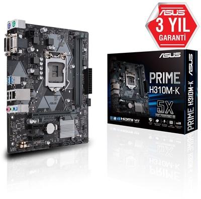 En ucuz Asus Prime H310M-K R2.0 2666mhz(OC) 1151p v2 mATX Anakart Fiyatı