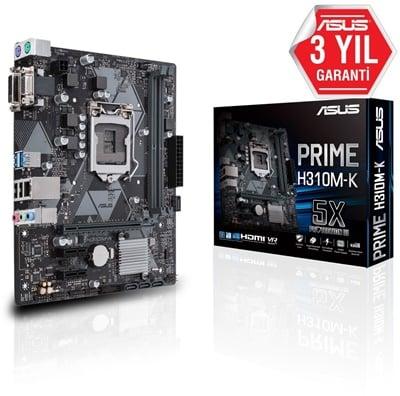 Asus Prime H310M-K R2.0 2666mhz(OC) 1151p v2 mATX Anakart