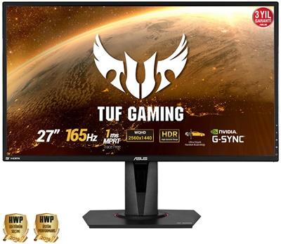 """En ucuz Asus 27"""" VG27AQ 1ms 165hz HDMI,DisplayPort G-Sync 2K Gaming Monitör Fiyatı"""