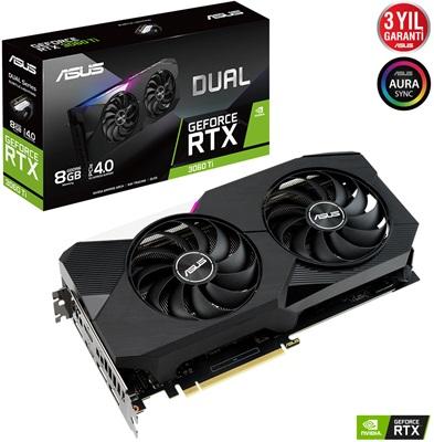 En ucuz Asus GeForce RTX3060Ti Dual 8G 8GB GDDR6 256 Bit Ekran Kartı Fiyatı