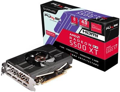 En ucuz Sapphire Radeon RX5500XT SF 8G Pulse 8GB GDDR6 128 Bit Ekran Kartı Fiyatı