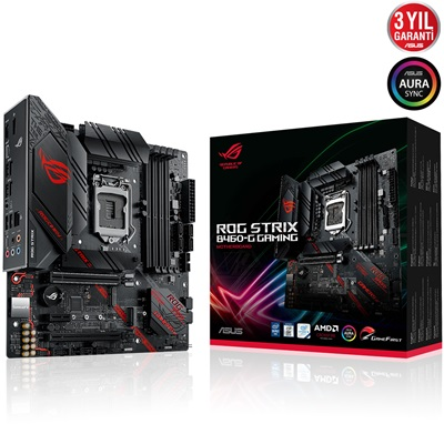 En ucuz Asus ROG Strix B460-G Gaming 2933mhz(OC) RGB M.2 1200p mATX Anakart Fiyatı