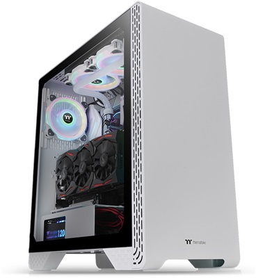 Thermaltake S300 Snow Edition Tempered Glass USB 3.0 ATX Mid Tower Kasa