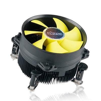 Akasa K32 PWM 92 mm Sarı Fan Intel Uyumlu Hava Soğutucu