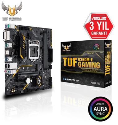 En ucuz Asus TUF B360M-E Gaming 2666mhz(OC) RGB M.2 1151p V2 mATX Anakart Fiyatı