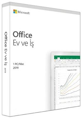 Microsoft Office 2019 Ev ve İş Türkçe Kutu Ofis Yazılımı (T5D-03258)