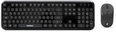 Everest Round KM-6282-S Siyah Türkçe Q  Kablosuz Klavye + Mouse Set