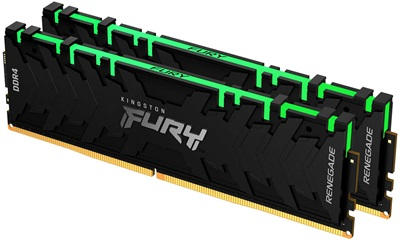 Kingston 16GB(2x8) Fury Renegade RGB 3000mhz CL15 DDR4  Ram (KF430C15RBAK2/16)