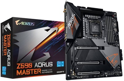Gigabyte Z590 Aorus Master 5400mhz(OC) RGB M.2 Wi-Fi 1200p ATX Anakart
