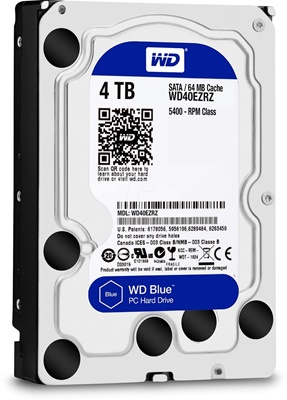 WD 6TB Blue 64MB 5400rpm (WD60EZRZ) Harddisk
