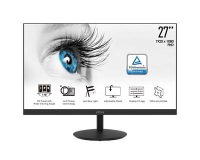 """MSI 27"""" Pro MP271 5ms 60hz HDMI,D-Sub Monitör"""