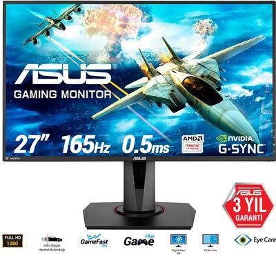 """En ucuz Asus 27"""" VG278QR 0.5ms 165hz HDMI,DisplayPort,DVI-D FreeSync (G-Sync Uyumlu) Gaming Monitör Fiyatı"""