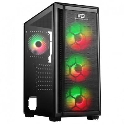 En ucuz PowerBoost VK-T01B 650W 80+ RGB USB 3.0 ATX Mid Tower Kasa  Fiyatı