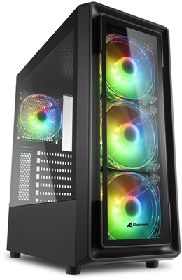 En ucuz Sharkoon TK4 Tempered Glass RGB USB 3.0 ATX Mid Tower Kasa  Fiyatı