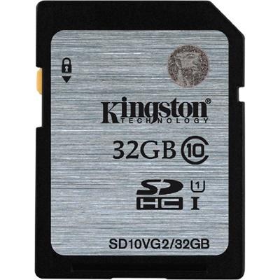 Kingston 32GB SDHC UHS-I Class 10 (SD10VG2/32GB)