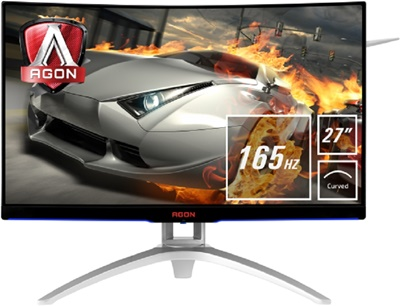 "En ucuz Aoc 27"" AG272FCX6 1ms 165hz VGA,DisplayPort,HDMI FreeSync Curved Gaming Monitör Fiyatı"