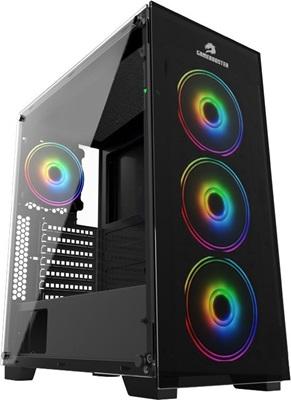 GameBooster GB-PE05B 600W 80+ Tempered Glass RGB USB 3.0 ATX Mid Tower Kasa