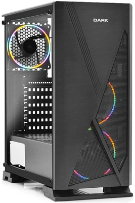 En ucuz Dark Raider Tempered Glass RGB USB 3.0 ATX Mid Tower Kasa  Fiyatı